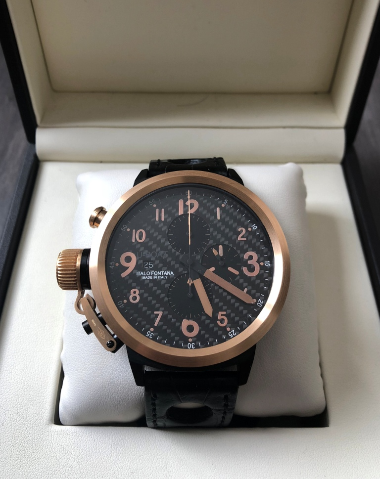 U-Boat Flightdeck Steel & Rose Gold