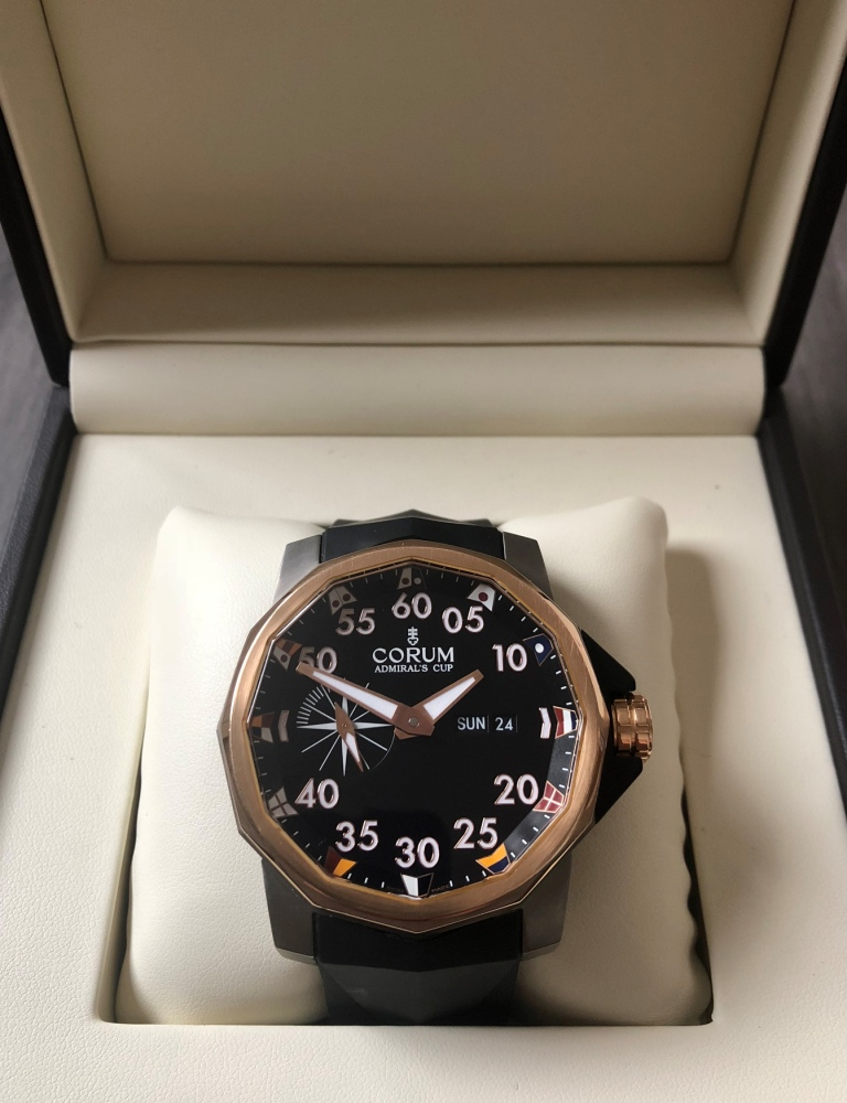 Corum Admiral`s Cup Challenger 48 Steel & Rose Gold
