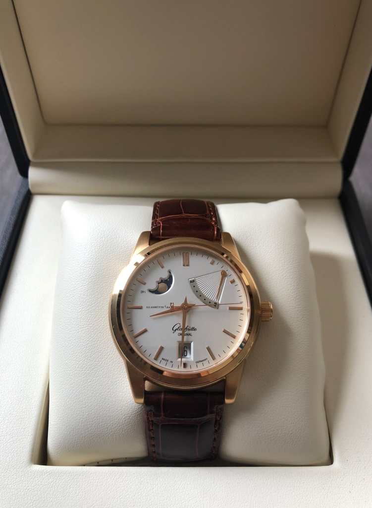 Glashutte Senator Moon Phase Rose Gold