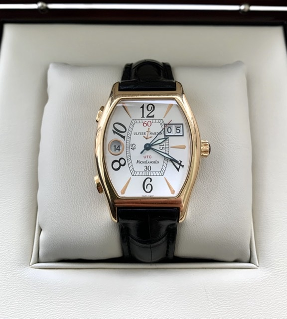 Ulysse Nardin Michelangelo UTC Dual Time Rose Gold
